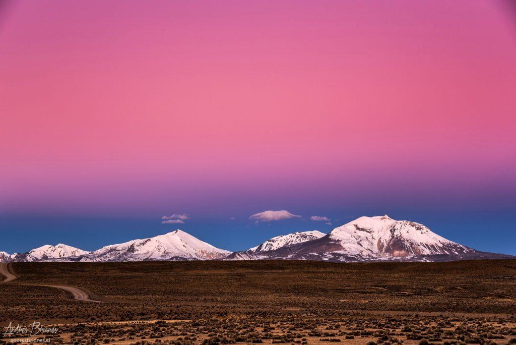 Atardecer en altiplano de Chile