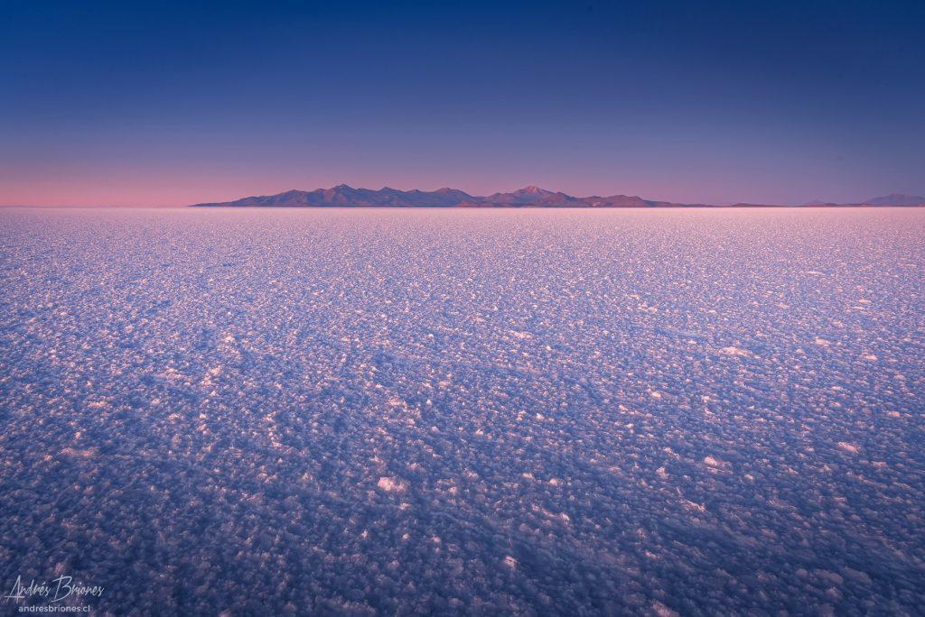 Amanecer en el Salar de Uyuni, Bolivia